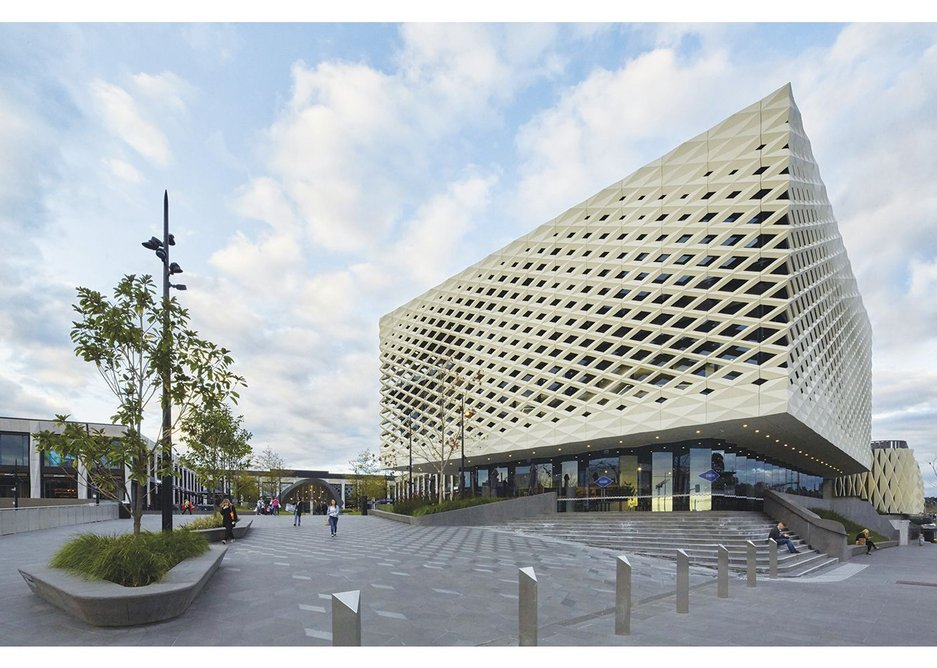 The new central library for Ringwood, part of Acme's project for a new town square and shopping mall extension in Eastland, Melbourne, Australia.