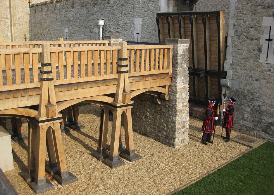 Midddle drawbridge by GMT Timber Frame.