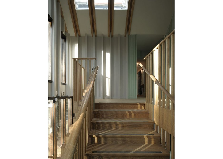 Beautifully detailed stairwell and entrance way.
