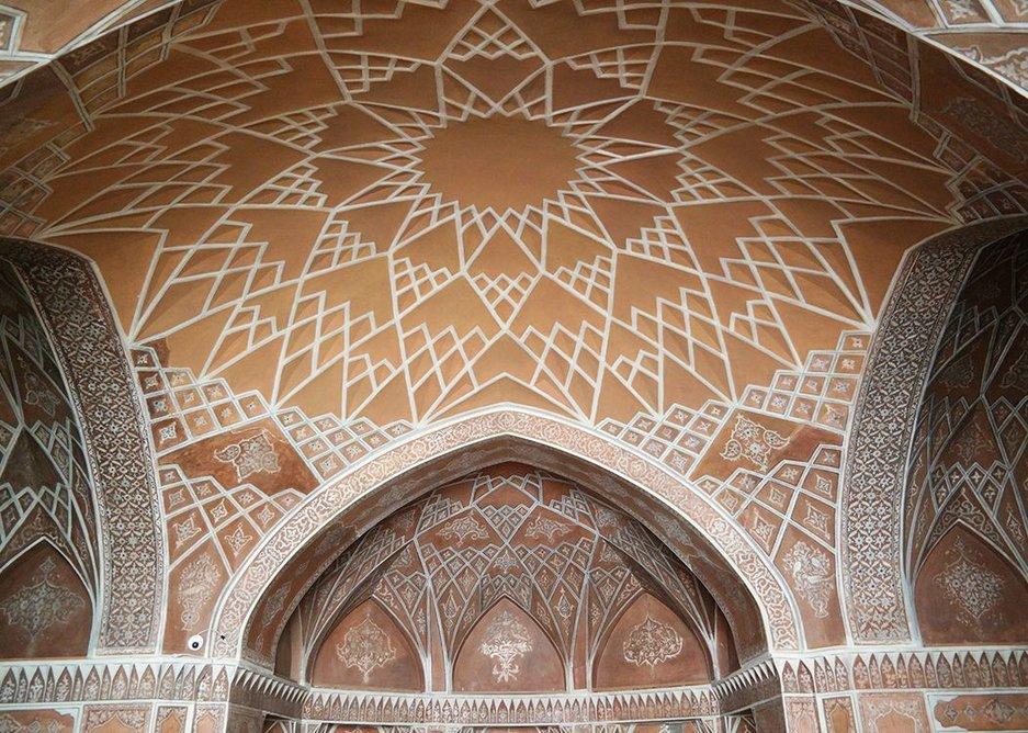 Inside one of Ameriha's beautiful apsed iwans…