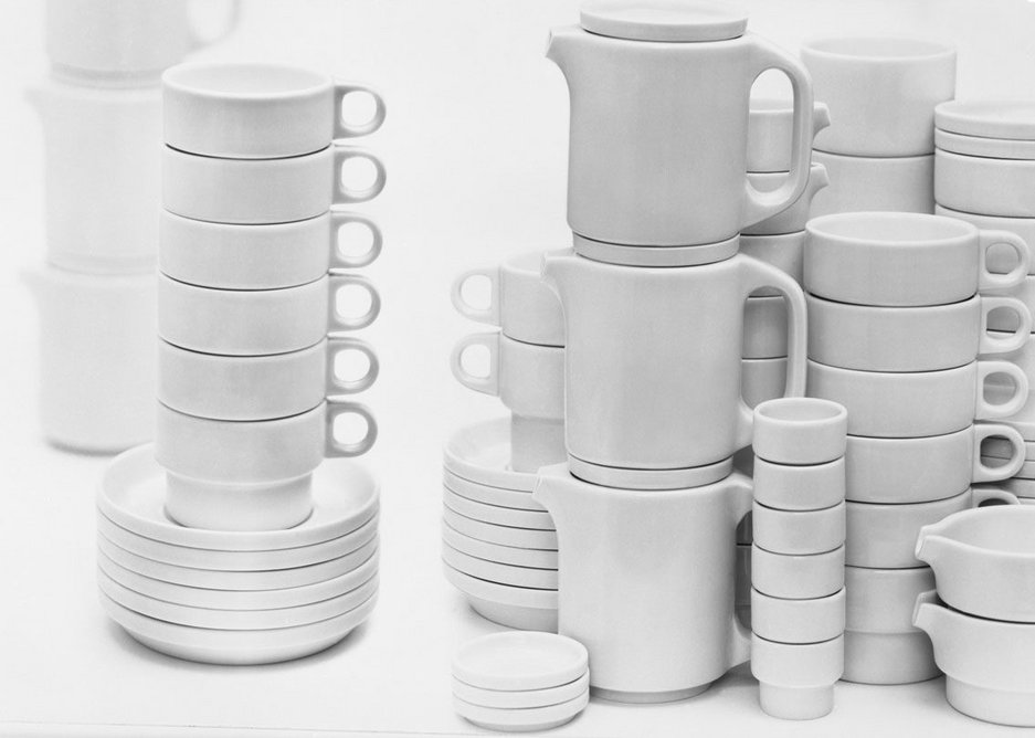 TC 100 stackable hotel tableware designed by Hans (Nick) Roericht (1958/59).
