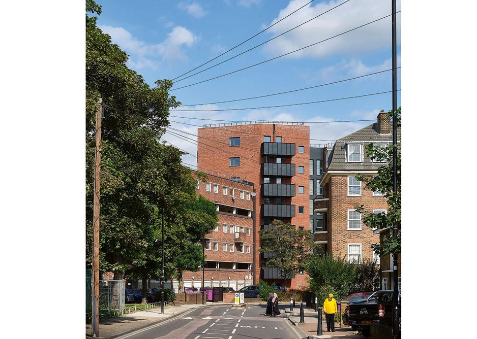 Pyrus House provides a new bookend to a 1970s housing block in Limehouse.