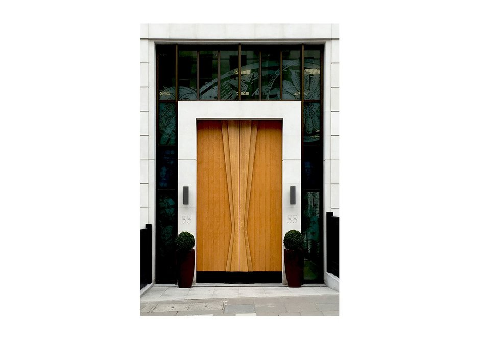 Small project – Doors for 55 St James's Street, London, by Sarah Kay. In German and French oak, an unquestionable sense of arrival.