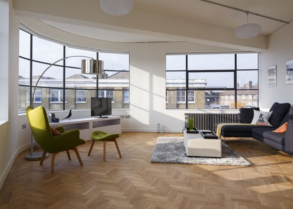 Apartment living area.