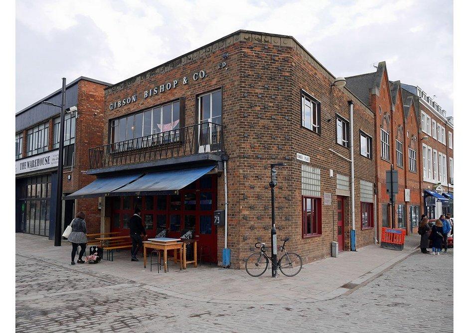 Nice little dockside 50s fruit-trade building on Humber Street is now a bustling cafe.
