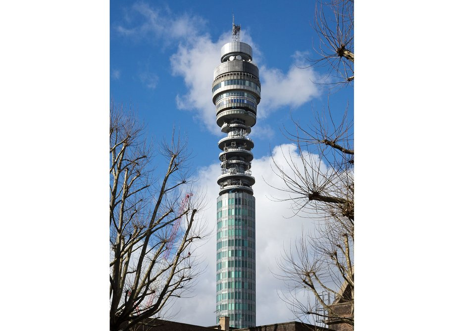 1964 Eric Bedford and G R Yeats, BT Tower, London.