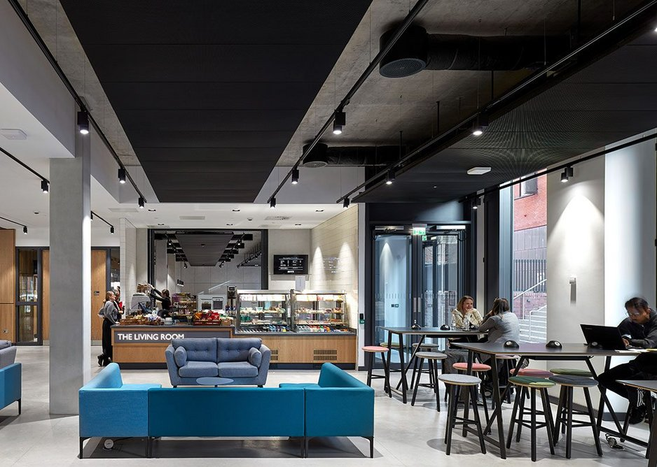 Social spaces are designed to appeal to both staff and students.