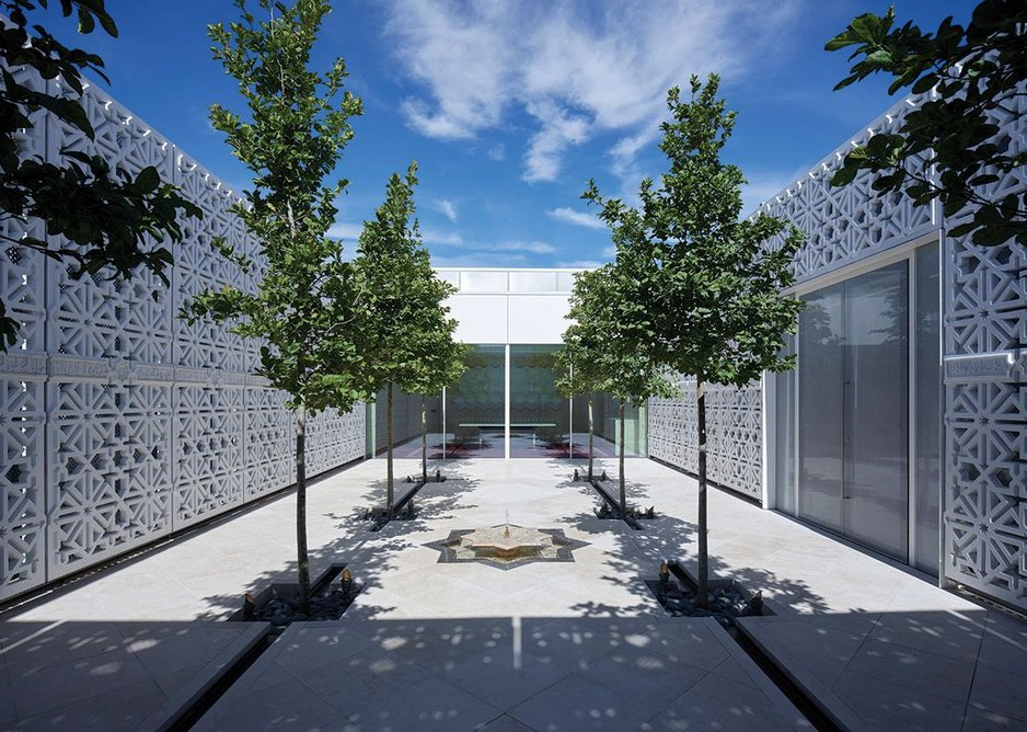 The Garden of Light at the top of the building comes off one of the executive meeting rooms and is a tribute to the Moorish gardens of southern Spain.