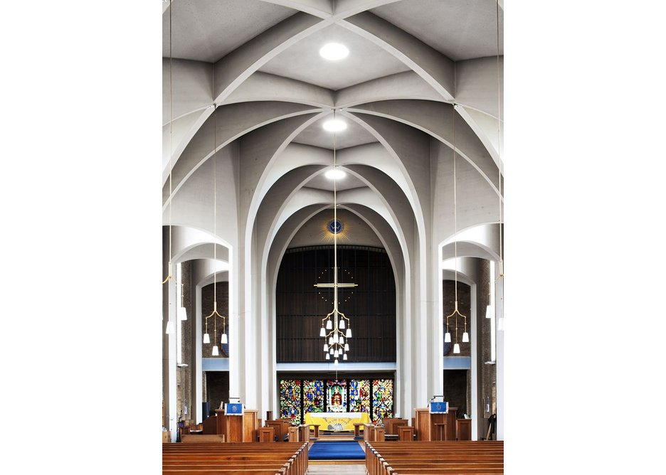 St James's Church, Clapham, London 1957-8, N.F. Cachemaille-Day.