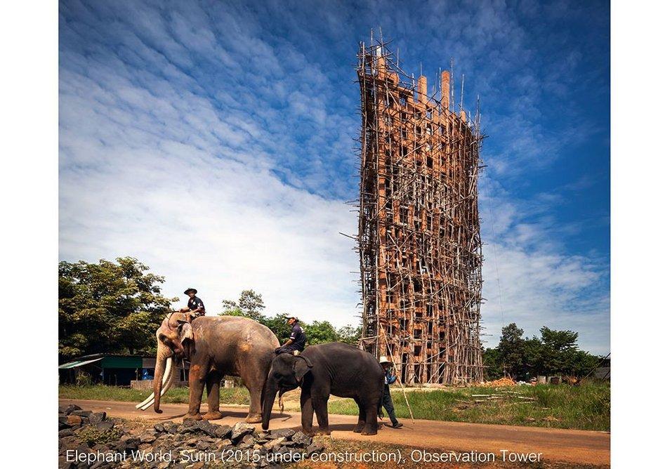Bangkok Project Studio, Elephant World (rendering), Surin Province, Thailand.