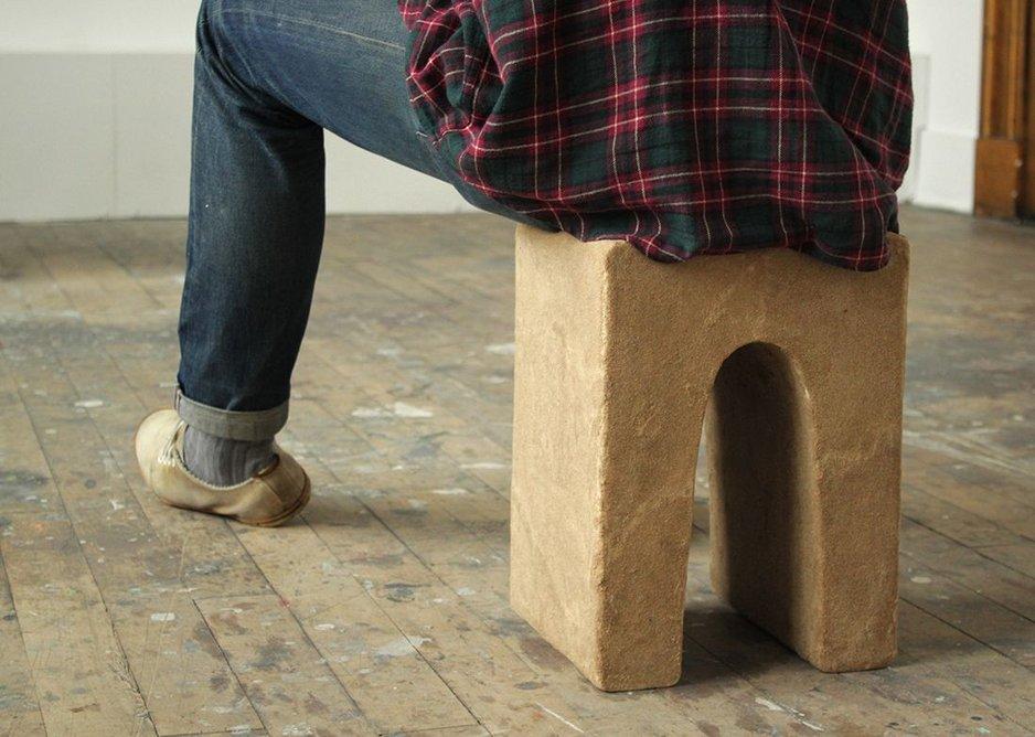 Trimble's 'sandstone' stool.