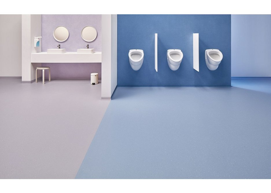 New bold colours for Forbo safety vinyl flooring.
