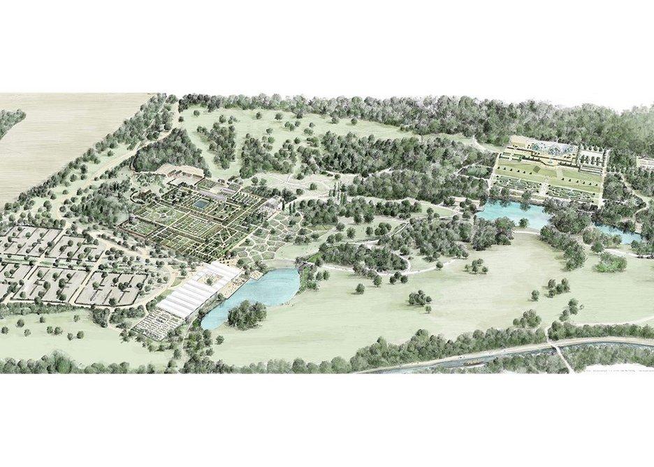 Masterplan of RHS Garden Bridgewater.