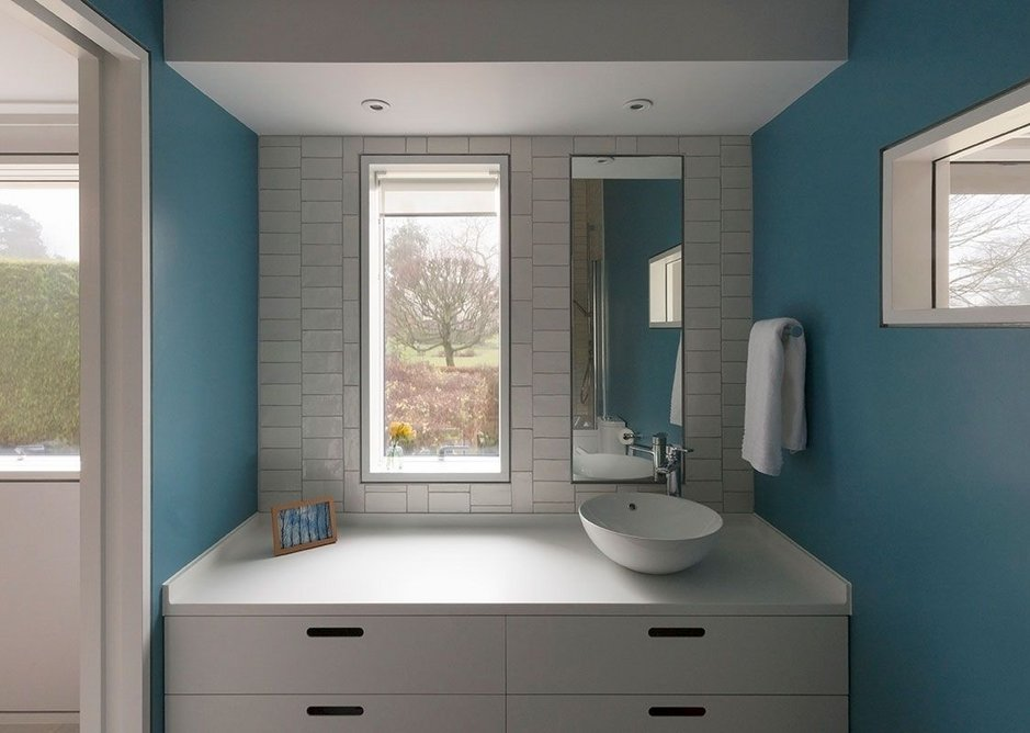 Every view a painting: Velfac bathroom windows at Old Shed New House.