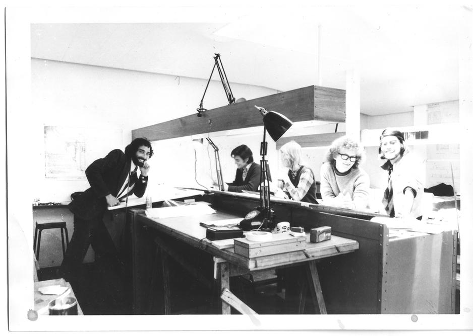 Archive image of the practice studio.