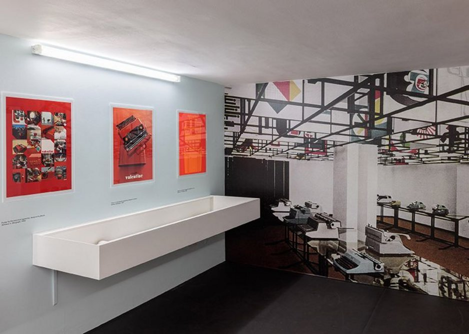 Olivetti Beyond Form and Function includes promotional posters and photographs of showrooms as well as the products themselves.