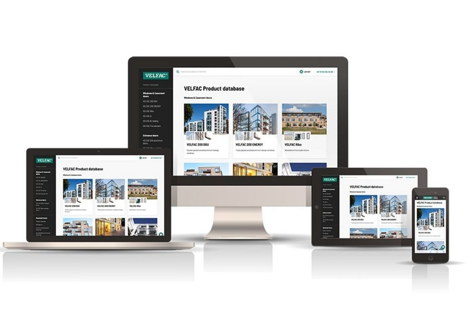 The Velfac product database: Supporting workflows with quick and easy online access to technical data.