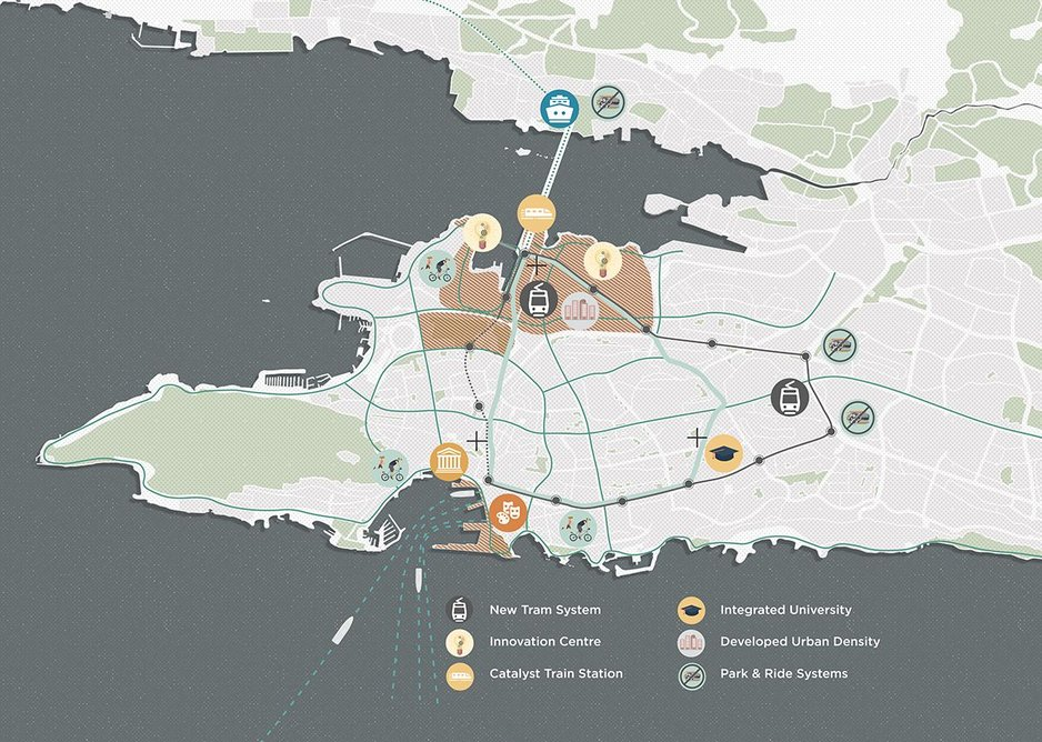 Masterplan for Split in Croatia by students from the University of Bath.