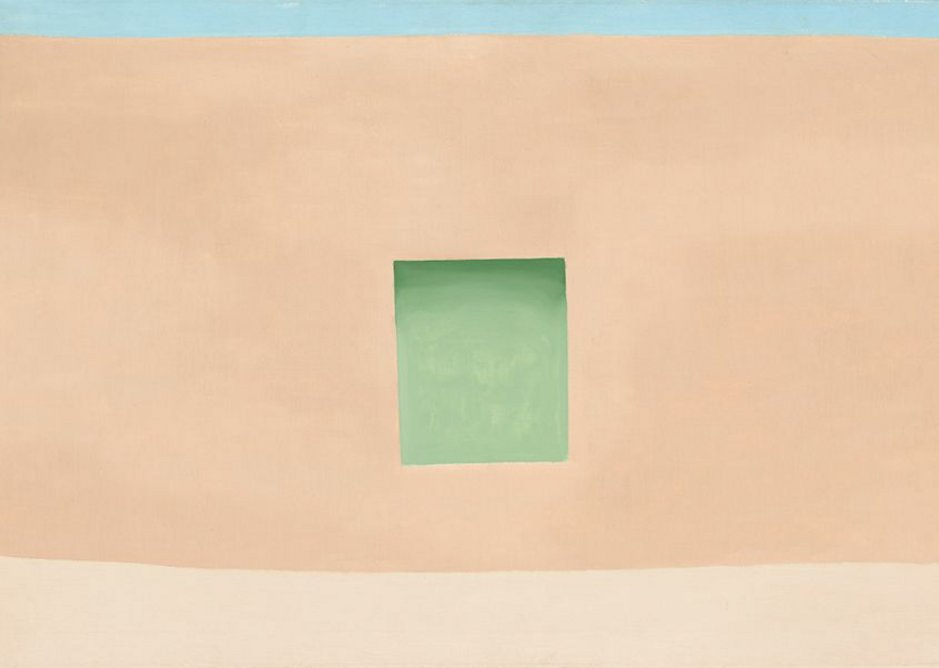 Wall with Green Door by Georgia O'Keeffe, 1953. National Gallery of Art, Washington, Corcoran Collection.