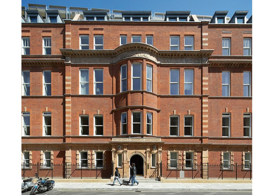 Retained facade on Nassau Street.