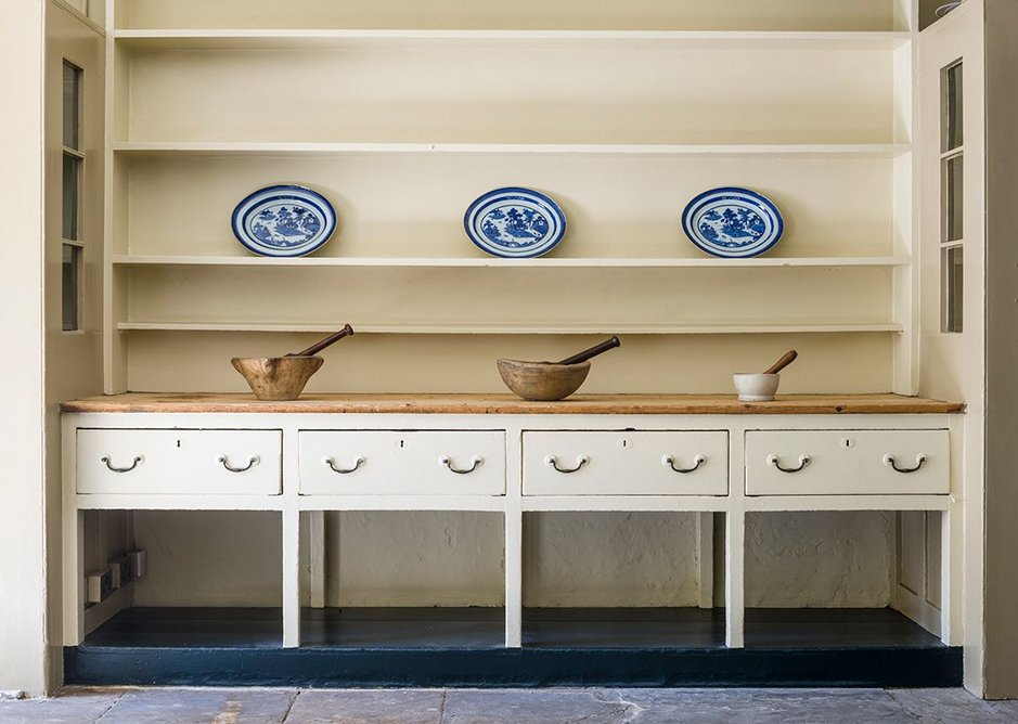 The dresser in the Soane Museum's front kitchen.