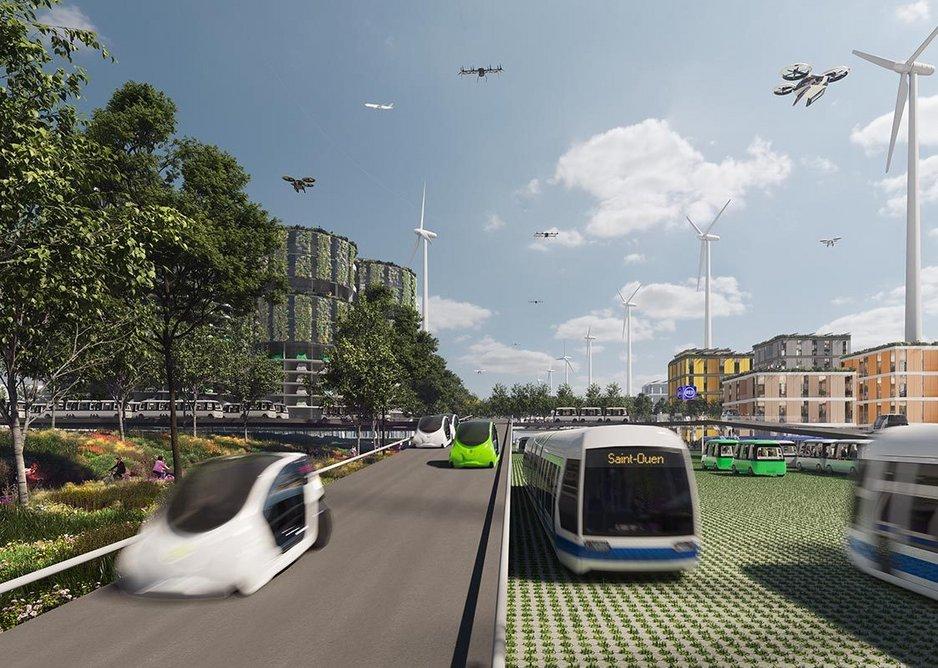 Visualisation of Boulevard Peripherique 2050 from Future Roads of Paris.