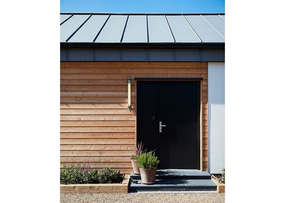 The front door of Enhabit's Healthy House in Richmond. The house is designed to be sealed from external pollutants.