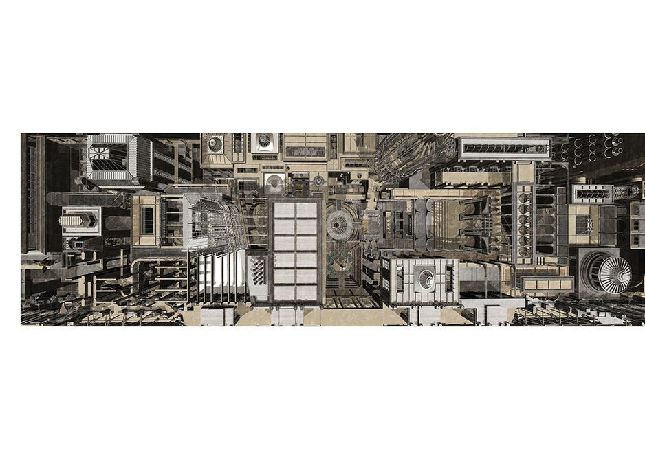 Extracting and projecting Soane's spaces by Allan Chong.