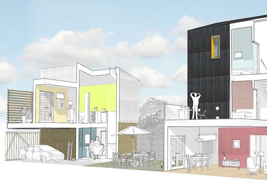 Scotswood, 2008 by Sarah Wigglesworth Architects.