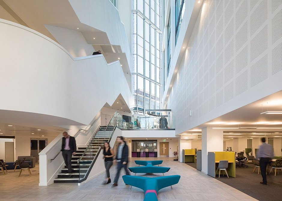 Several previous council annexes are brought together in this building. Merrion House, Leeds, BDP, RIBA Regional Award 2019.