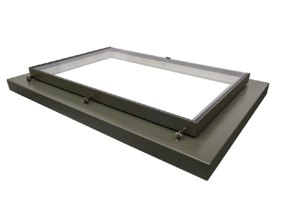The Conservation Plateau rooflight is fronted with silicone to resemble putty, has exposed hinge posts and glazing clips making it suitable for sensitive schemes.