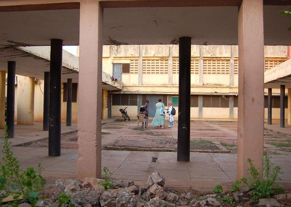 Accra compound and veranda, 2019.