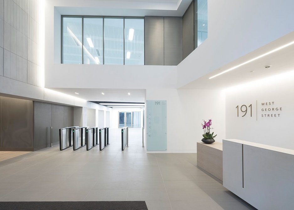 The slimline, space-saving security gate design is perfectly in tune with the light and airy atrium.