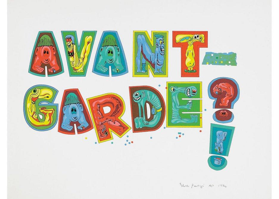 Eduardo Paolozzi, Avant-Garde, 1970 screenprint, courtesy Independent Gallery, London. Image courtesy Venator & Hanstein, Cologne.