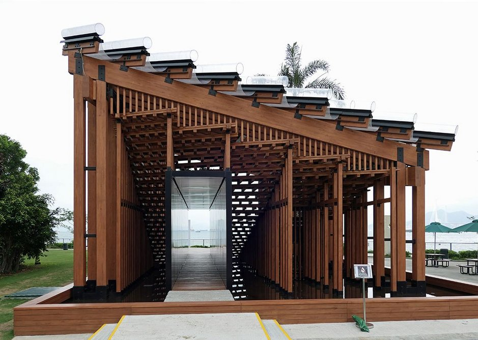 Another approach – competition-winning timber pavilion in West Kowloon by New Office Works.
