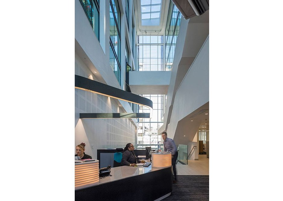Symbiotic relationship between the two buildings. Merrion House, Leeds, BDP, RIBA Regional Award 2019.