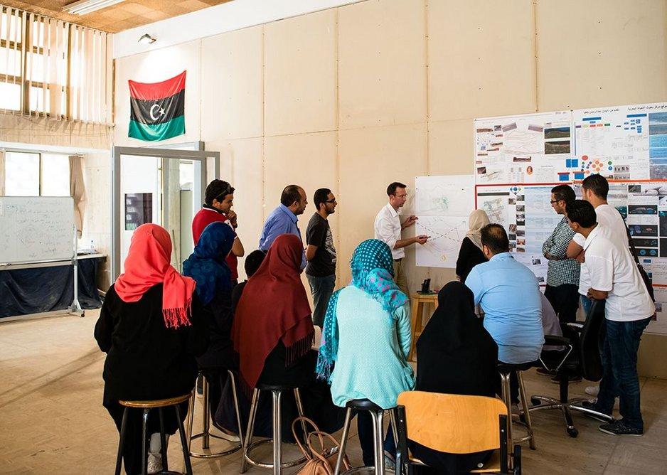 Teaching in Libya.