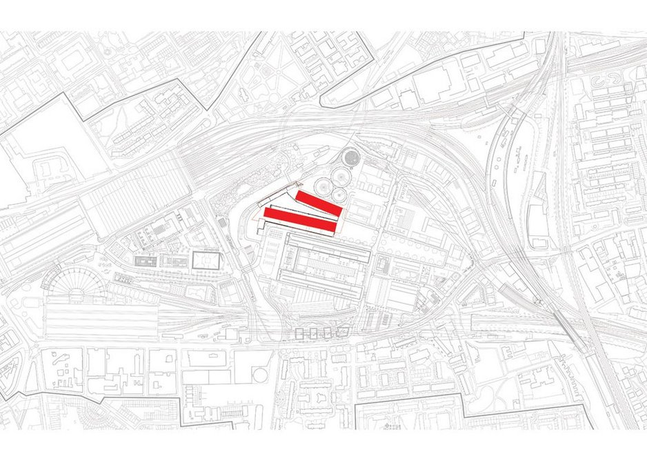 Site plan showing the sheds in context.