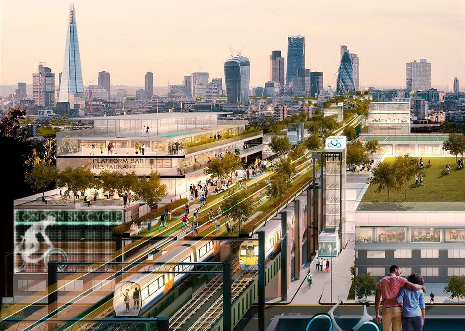 Foster and Partners' vision of transport and green making London work better.