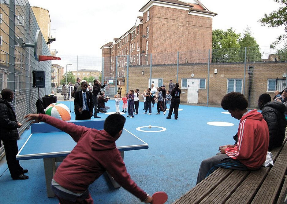 The multifunctional outdoor sports area.