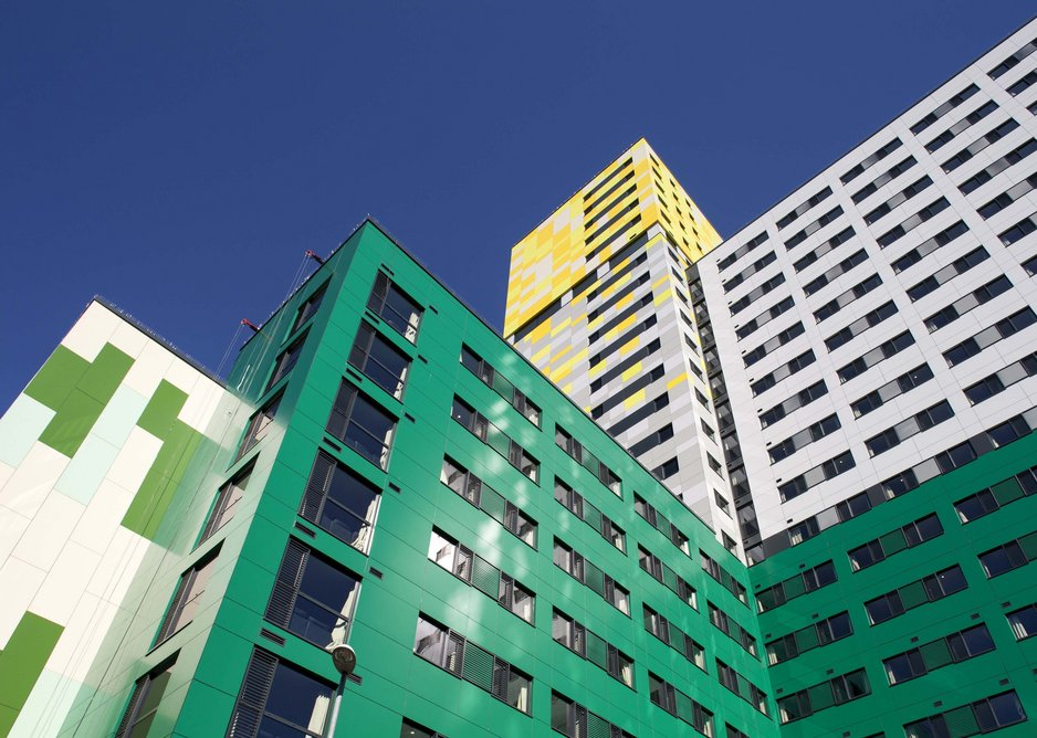 Another view of UNITE student accommodation.