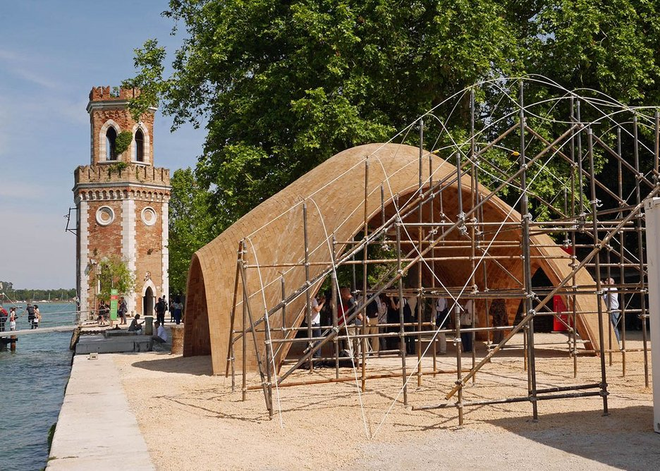 Norman Foster Foundation's African Droneport built on the Arsenale quayside.