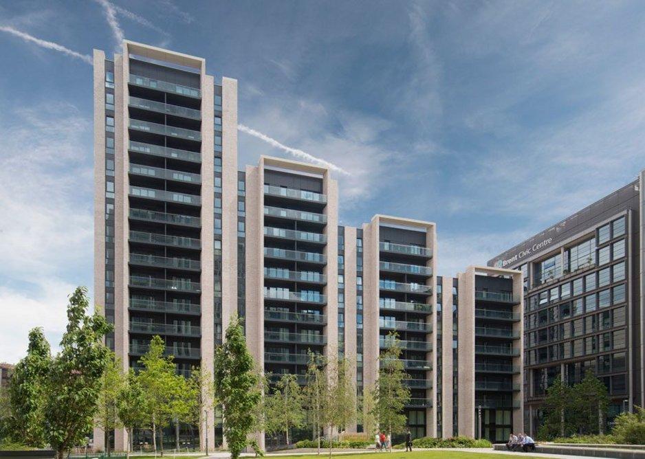 Michelmersh's Floren Polaris brick at Landsby housing development, Wembley. Architect Flanagan Lawrence. WhatHouse? Awards 2018 - Best Build to Rent Project.