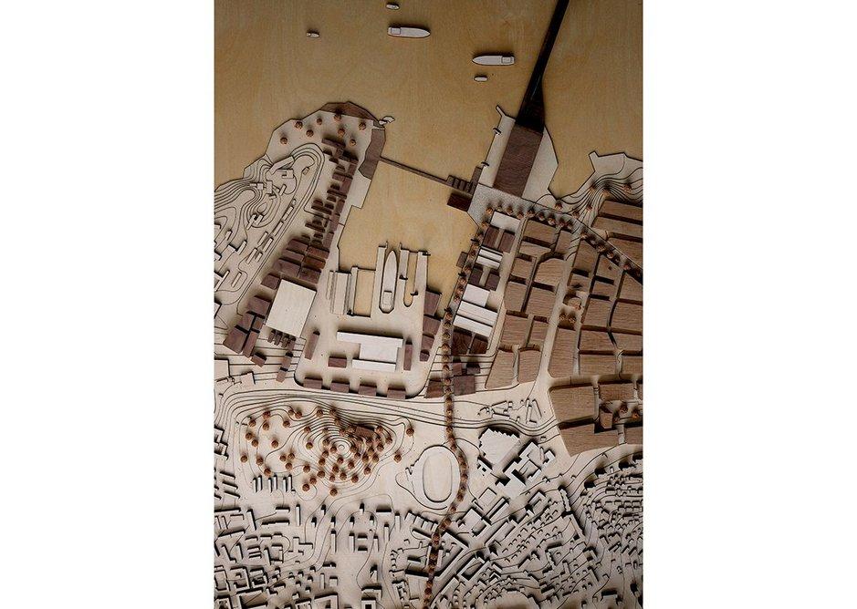 Model of University of Bath masterplan for Split.