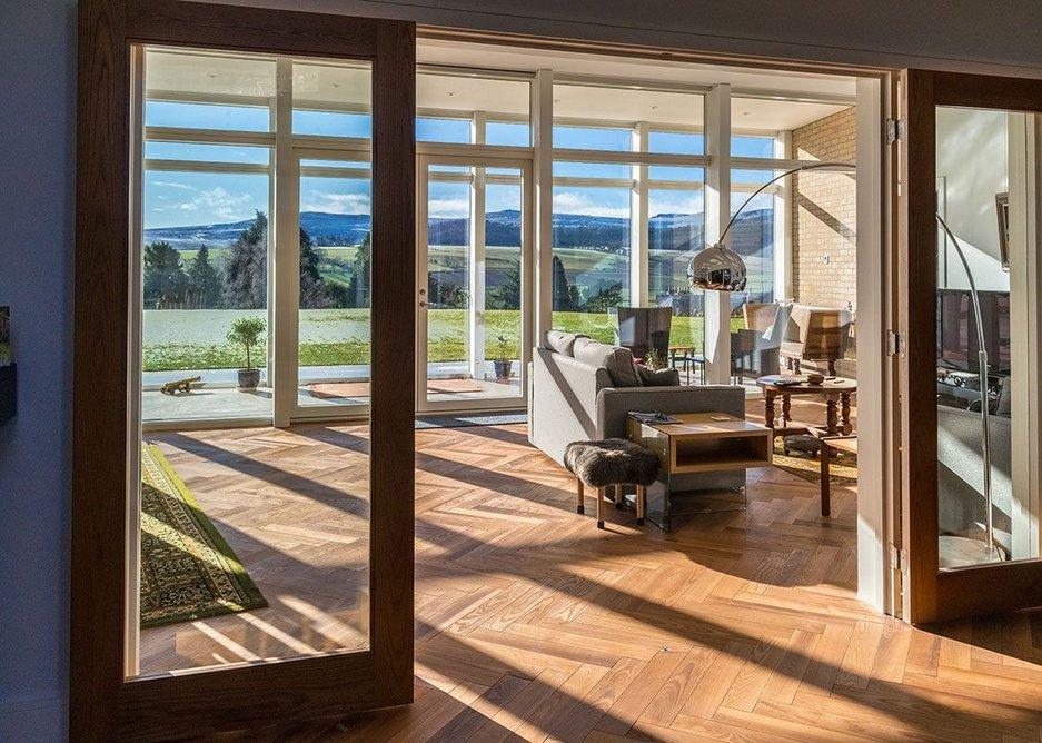 Velfac's internal pine framing creates beautiful, delineated internal spaces.