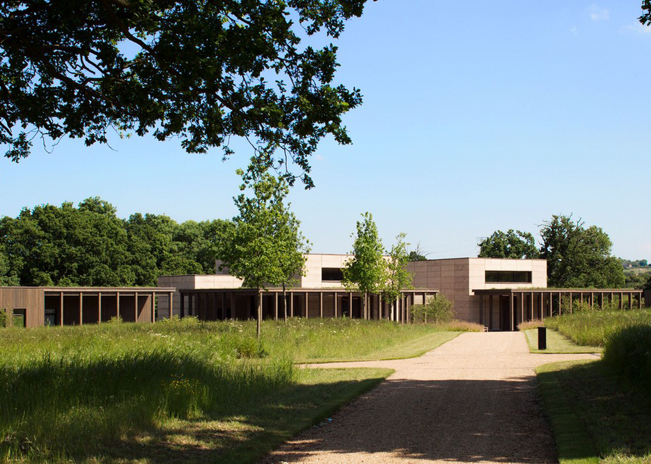 Jewish Cemetery, Bushey, designed by Waugh Thistleton in a site of Outstanding Natural Beauty in London's Green Belt.