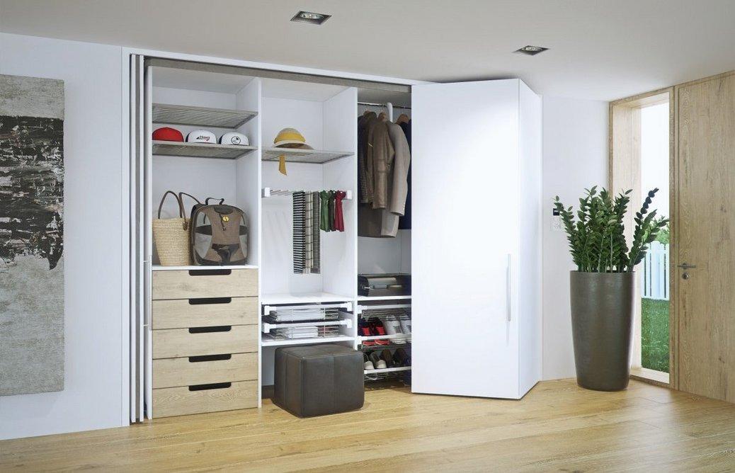 Hawa Concepta folding sliding door system: Floor-to-ceiling designs maximise storage.