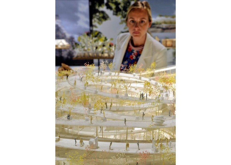 Beton Hala Waterfront Centre by Sou Fujimoto from Futures of the Future at Japan House London