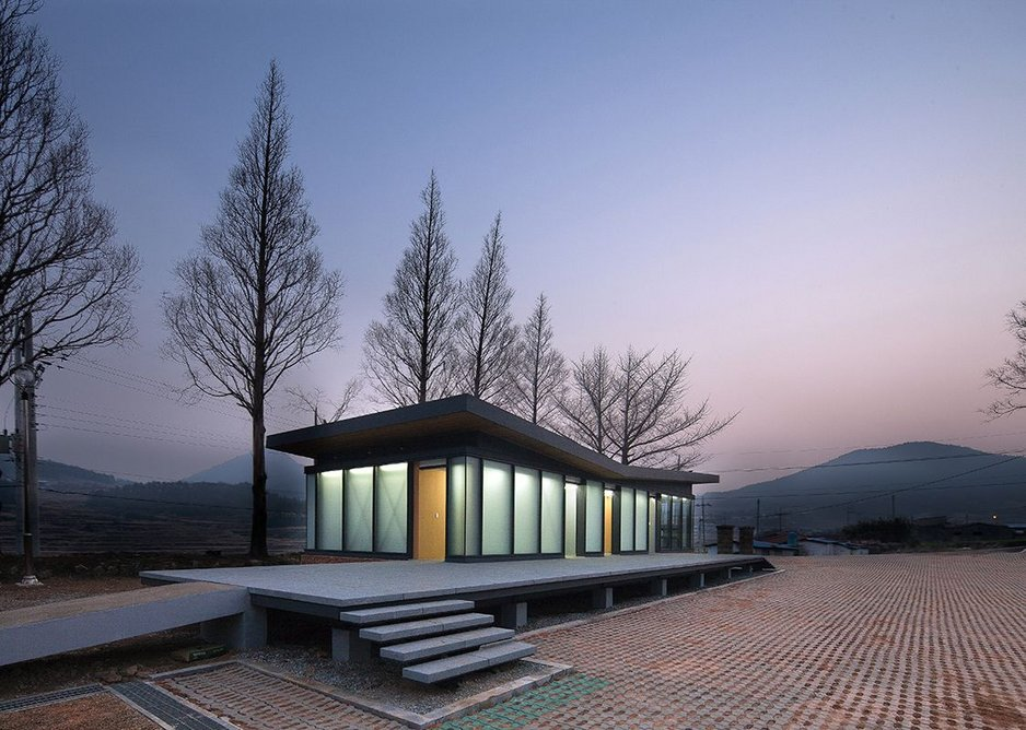 Management office annex with a view by OUJAE.