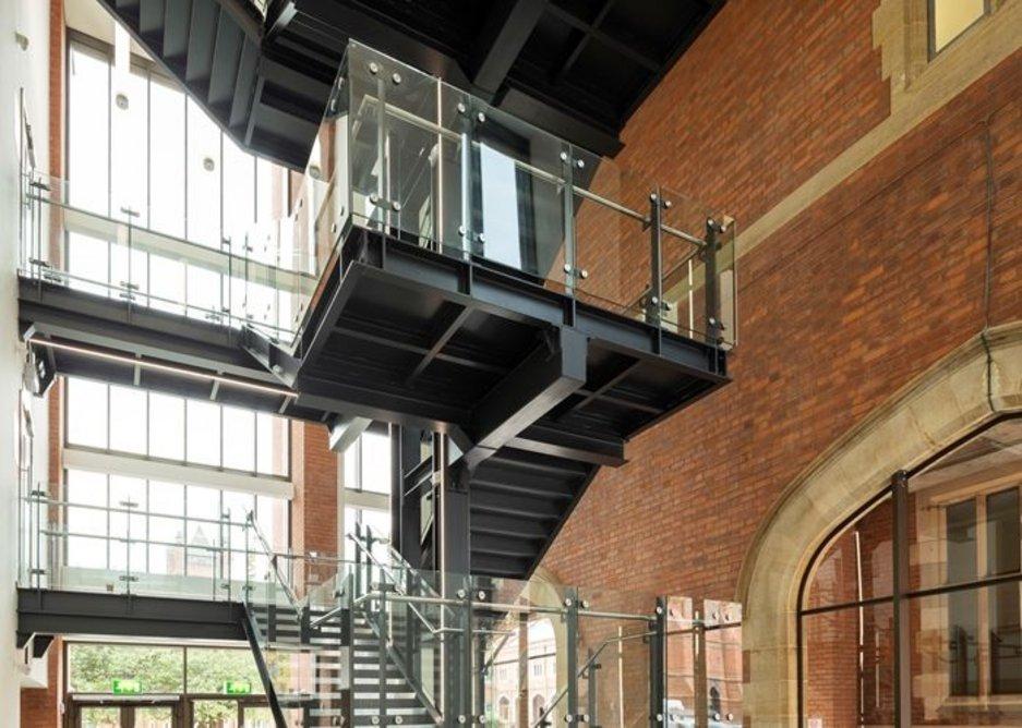 Main Site Tower and Peter Froggatt Centre, Queens University Belfast, Belfast.